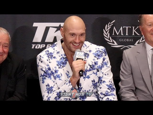 TYSON FURY'S IMMEDIATE REACTION TO KO OF SCHWARZ & APOLLO CREED ENTRANCE