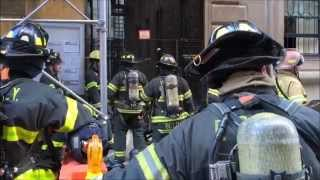 "FDNY BATTLING ""ALL HANDS"" TRANSFORMER FIRE WITH EXTENSION INTO BUILDING & MINOR EXPLOSION IN NYC."