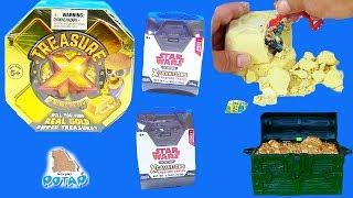 Treasure X Мультик про Пиратов! Видео для детей! Раскопки Пиратов и героев Звёздных войн