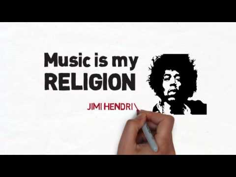Jimi Hendrix Quote On Religion And Music Youtube