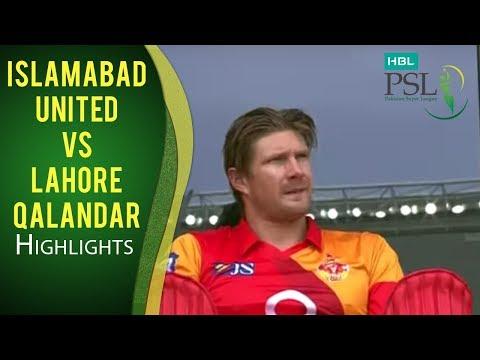 PSL 2017 Match 4: Islamabad United  v Lahore Qalandars Highlights