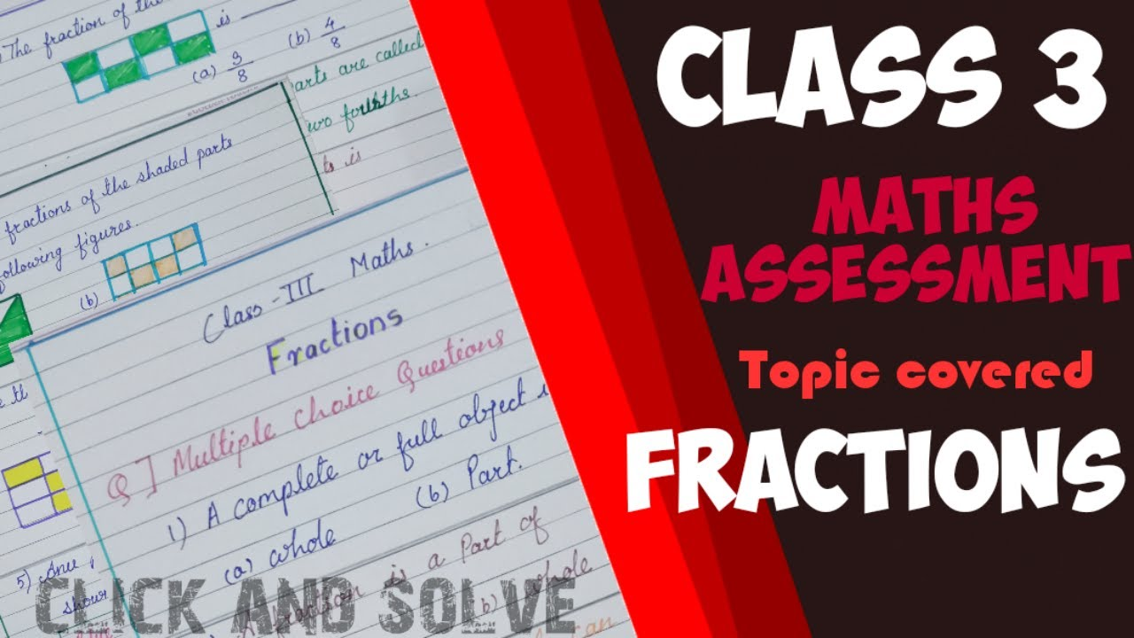 Fractions worksheet for class 3 with answers explain in Hindi   Grade 3  fractions worksheet ncert - YouTube [ 720 x 1280 Pixel ]