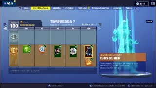 **SEASON 7** SKIN LEVEL 100! ALL PURCHASED! FORTNITE: BATTLE ROYAL (BATTLE PASS)