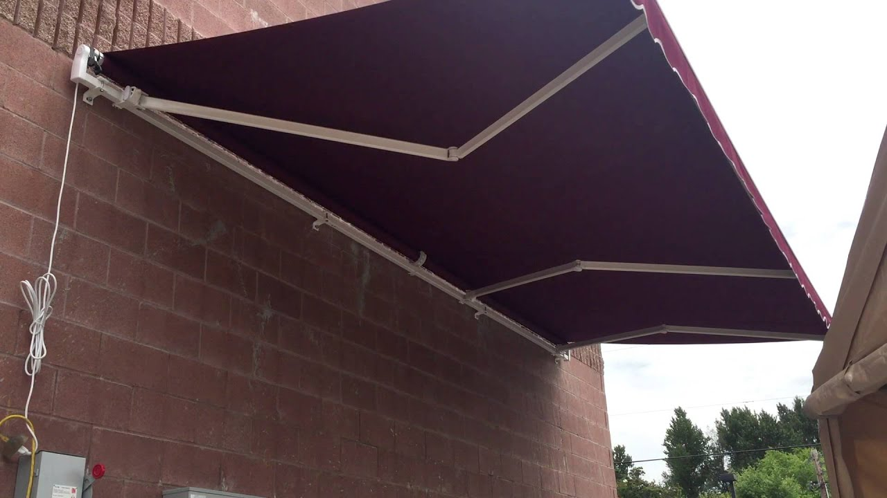 ALEKOR 20 X 10 Retractable Patio Awning BURGUNDY Color