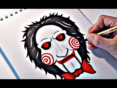 How To Draw BILLY - JIGSAW PUPPET (SAW) - YouTube