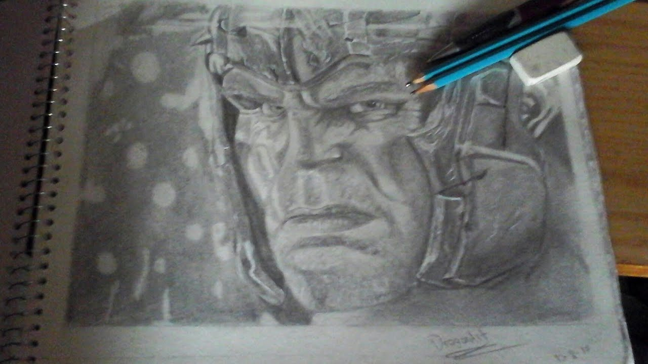 Dibujando A Hulk De Thor Ragnarok /MARVEL/Drawing Hulk Of Thor Ragnarok - YouTube