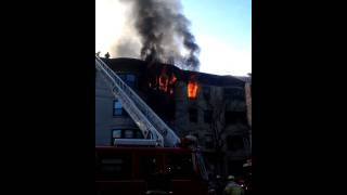 heavy fire showing brookline ma 4th alarm
