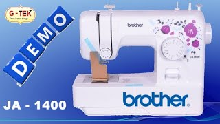 how to use, Brother, JA 1400, Sewing Machine, brother Sewing Machine tutorial, by gohilsew
