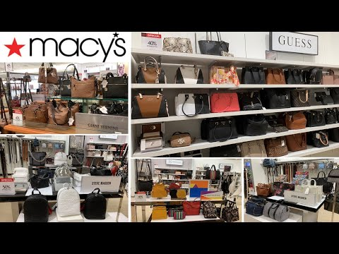 Macy's Fashion Handbags Purse | Guess Steve Madden Giani Bernini | Shop With Me May 2019