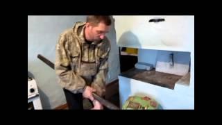 Печём хлеб в русской печи