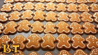 Рождественские имбирные пряники. Имбирное печенье. Пряничный человечек