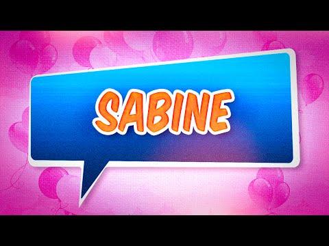 Joyeux anniversaire Sabine