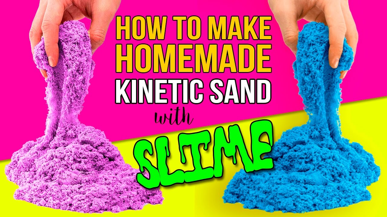 diy kinetic sand with slime how to make homemade kinetic. Black Bedroom Furniture Sets. Home Design Ideas