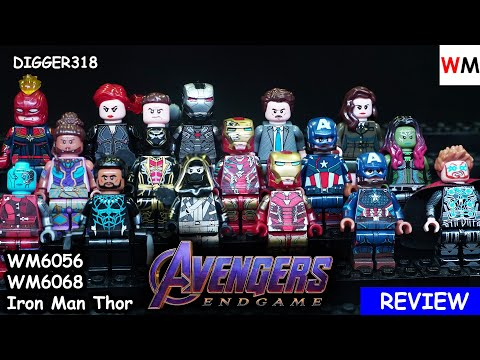Lego Marvel Superheroes Avengers Endgame WM Bootleg WM6056 WM6068 Iron Man Thor Review 4K