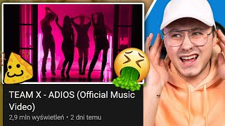 OCENIAM PIOSENKI POLSKICH JUTUBERÓW - TEAM X - ADIOS (Official Music Video)