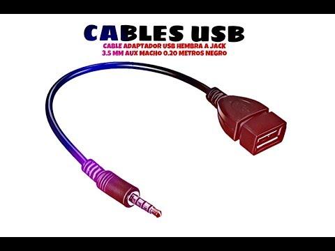 Video de Cable adaptador USB hembra a jack 3.5mm AUX macho 0.20 M Negro