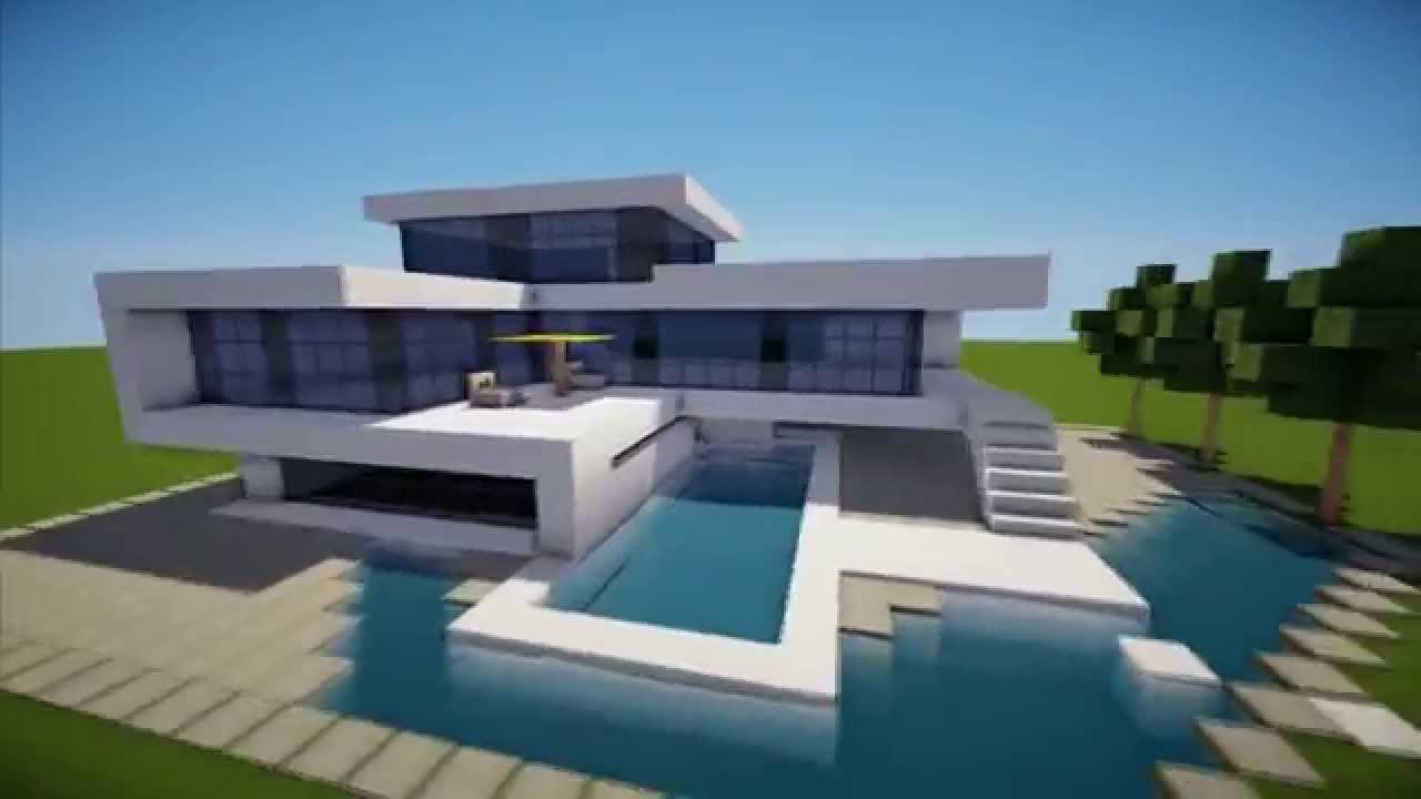 MINECRAFT How To Build A Modern House Best Modern House 2013