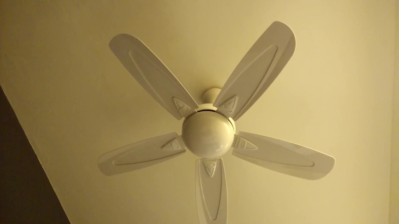 Elmark Emd 28 White 36 Inch Ceiling Fan In A Hotel Room Malaysia