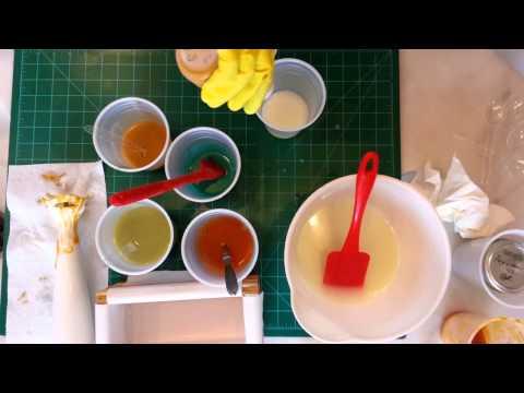Split batch of 100% coconut oil soap