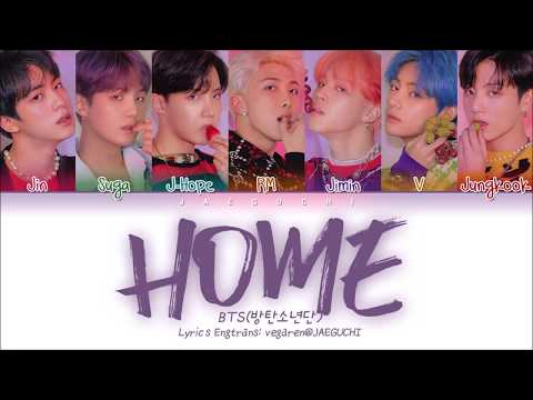 BTS (방탄소년단) - HOME (Color Coded Lyrics Eng/Rom/Han/가사