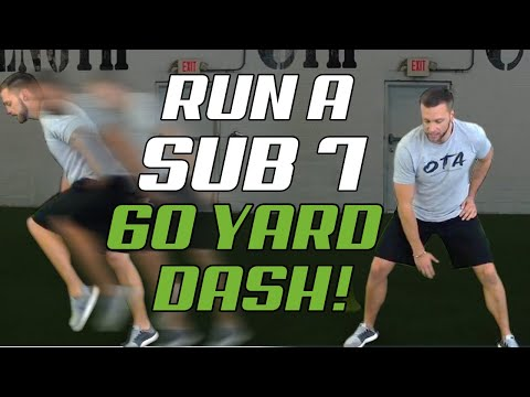 How To Run A Faster 60 Yard Dash [for BLAZING Baseball Speed] THE SUB 7 60
