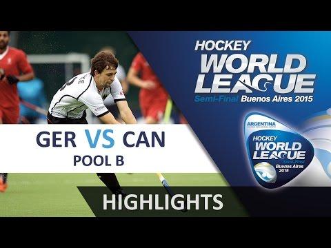 Germany v Canada Match Highlights