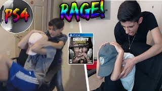Call Of Duty WW2 1v1 Against *BIG* Brother! (Broken Ps4) (Rage)