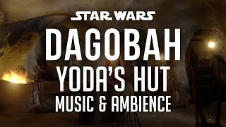 Dagobah, Yoda's Hut | Star Wars Music & Ambience - Rainy Night in Marshlands with a Relaxing Fire