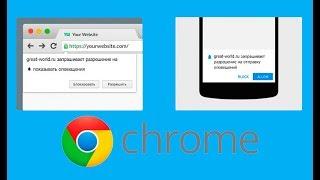 Як відключити оповіщення (попередження) в Chrome?