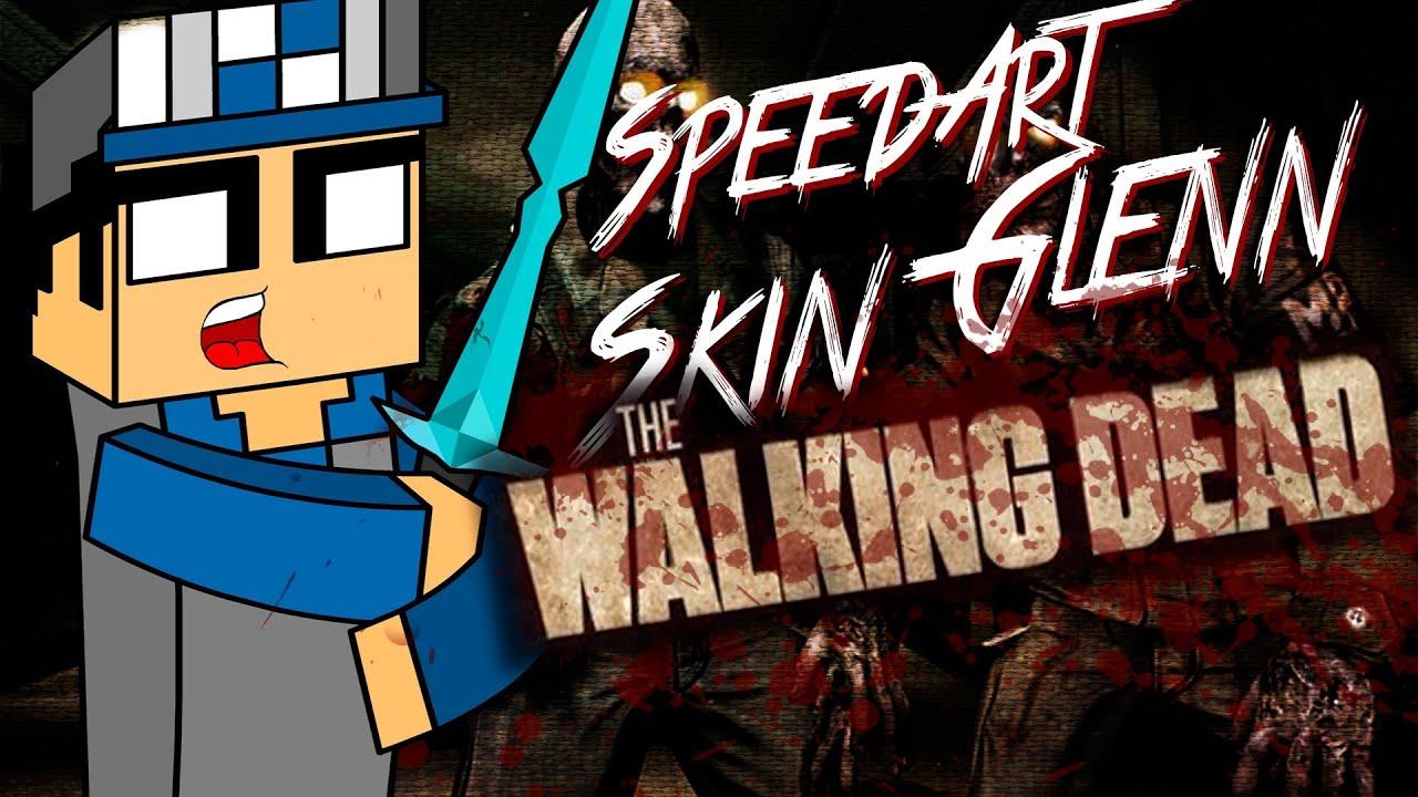 SpeedArt Gleen The Walking Dead Skin De Minecraft YouTube - Skins para minecraft the walking dead