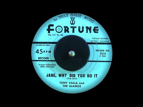 Tony Valla and The Alamos - Jane, Why did You do It (1961)