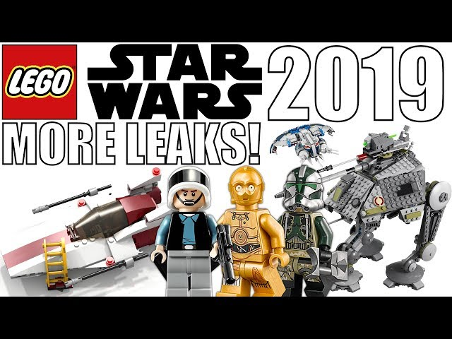 MORE 2019 LEGO Star Wars Leaked Pictures! AT-AP, Droid Gunship, A-Wing, & Tie Fighter!