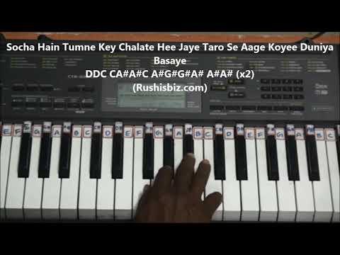 Keh Du Tumhe Ya Chup Rahu - Piano Tutorials - Deewar Movie | DOWNLOAD NOTES FROM DESCRIPTION
