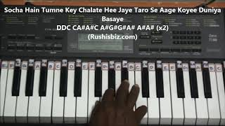 Keh Du Tumhe Ya Chup Rahu - Piano Tutorials | 7013658813 - PDF NOTES/BOOK - WHATS APP US