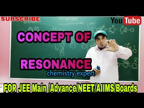 Concept Of Resonance In Organic Chemistry For XI/XII | JEE Main and  Advance|NEET| BY CHANDRAHAS SIR
