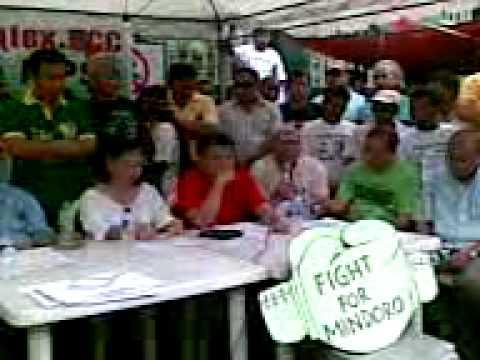 Mindoro Intex Mine - Hunger Strike - Press Conference, 18 Nov 2009, 10am (2 of 4)