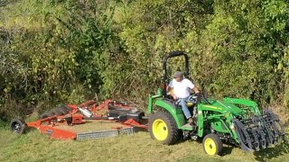 Rhino 10' Flex-wing; Small Tractor; Tough Mowing!