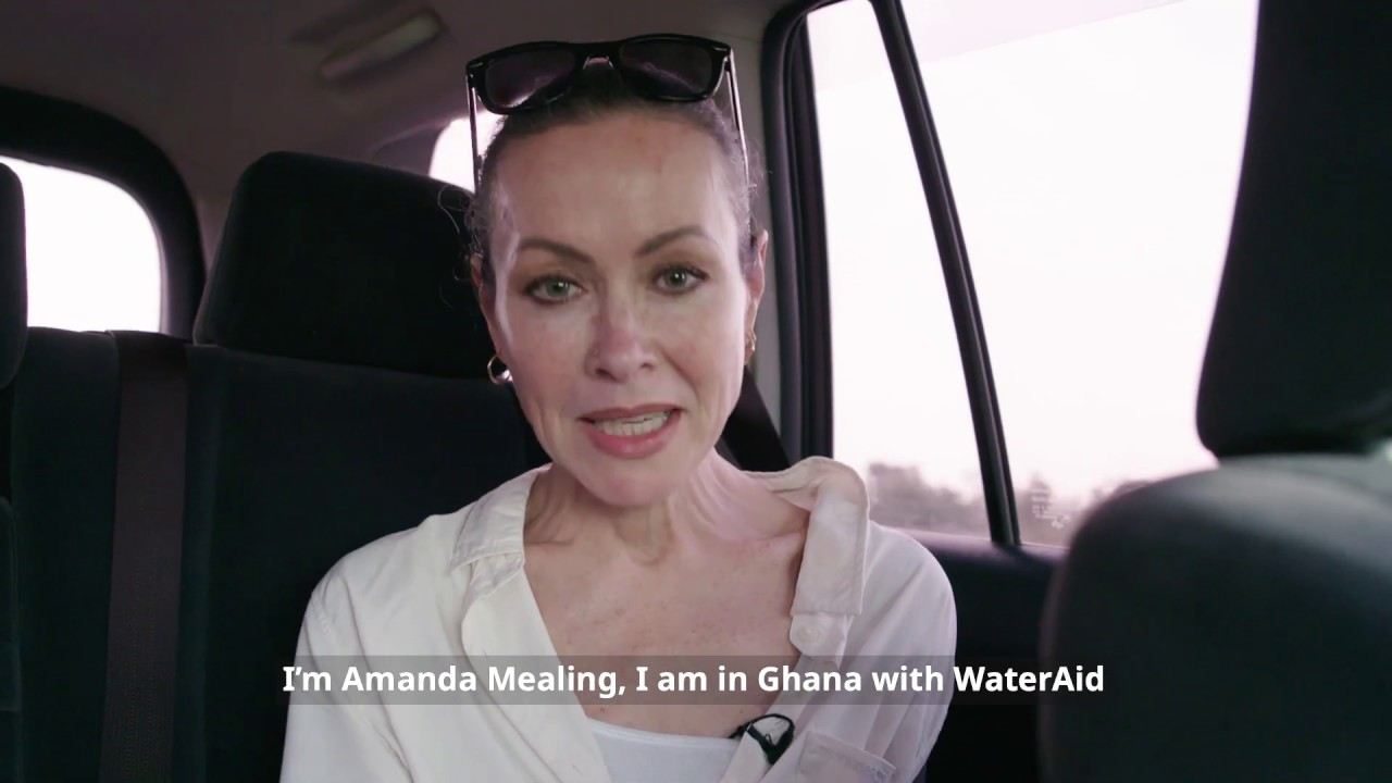 Amanda Mealing Actress actress amanda mealing visits health centres in ghana with wateraid    wateraid