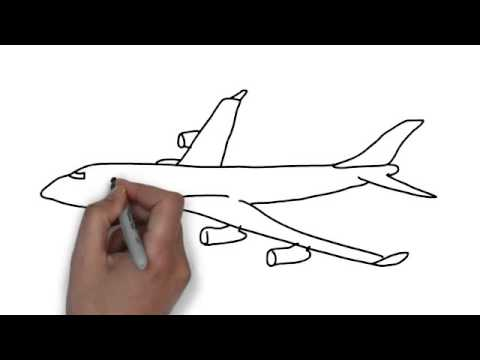 How To Draw Plane Youtube