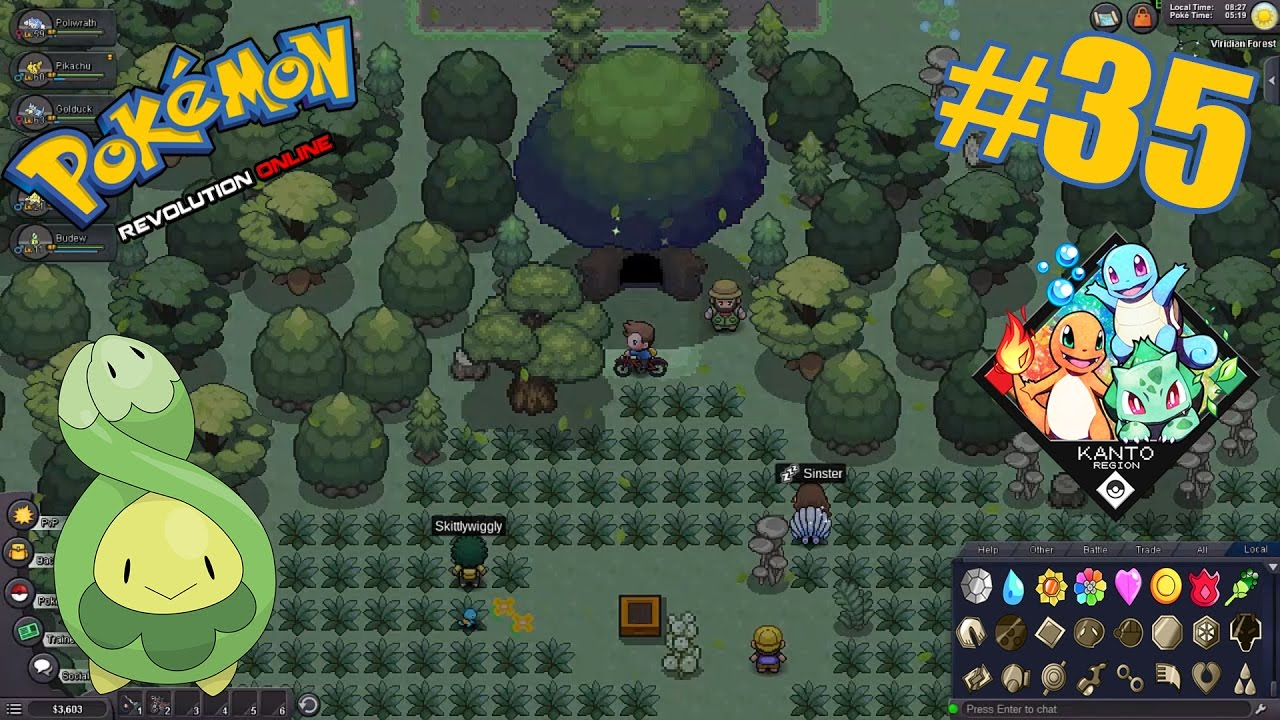 Pokemon Revolution Online  #35 - Viridian Maze - Budew - Headbutt
