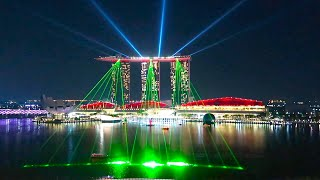 Singapore - SPECTACULAR light, laser & water show