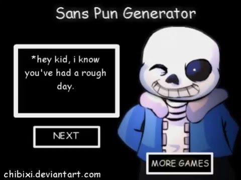 Sans Pun Generator (QUICKIE) - YouTube