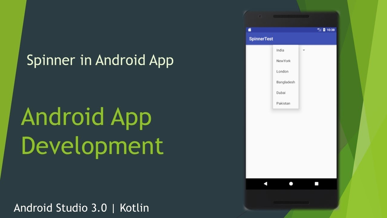 Kotlin with Android -10 Display data into a Spinner