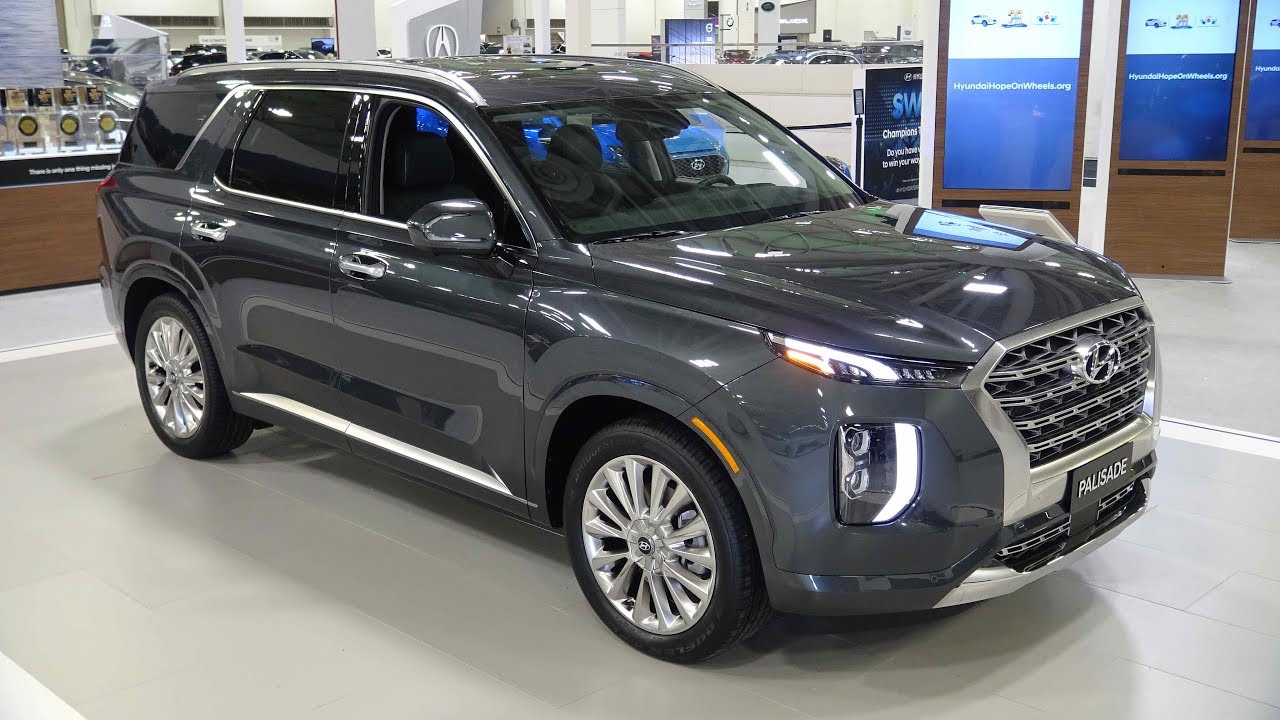2020 Hyundai Palisade In The Color Forest Rain At The Twin Cities Auto Show