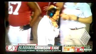 1 Alabama getting destroyed by 2 Clemson 😃😴