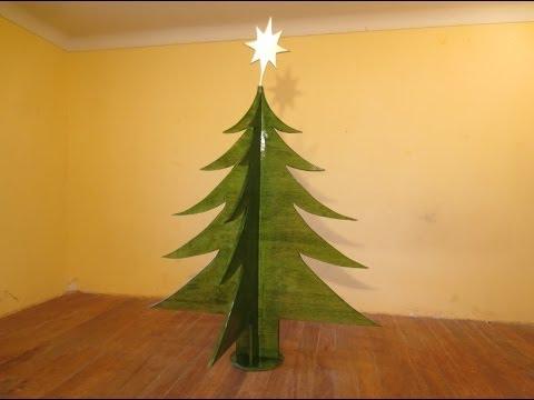 Como hacer arbol de navidad facil triplay luis lovon youtube - Arboles de navidad de madera ...