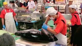 Япония Морепродукты-Популярные Шоу Мастерами Раздельшиков Тунцов