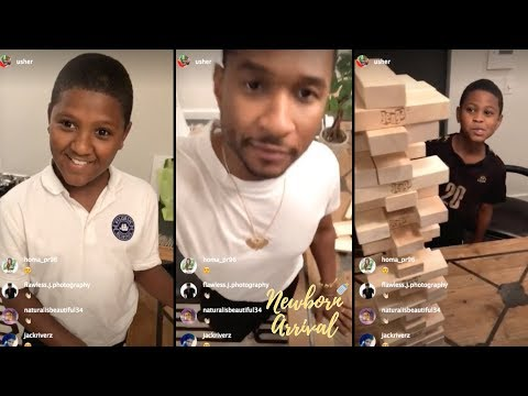Usher Shows No Mercy Playing Jenga Against His Sons On IG Live! Mp3