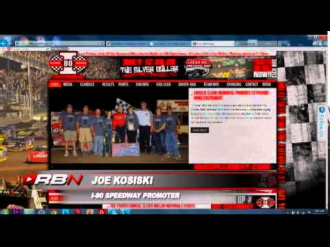 RacinBoys   I 80 Speedway Promoter Joe Kosiski on Track Talk
