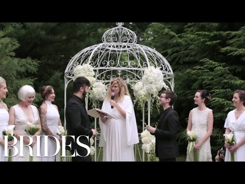 Christian Siriano and Brad Walsh's Beautiful Wedding | BRIDES